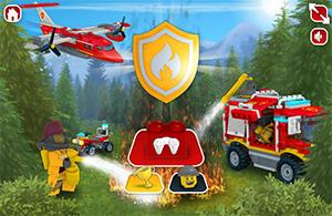 LEGO erdőtűzoltási játék